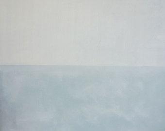 "Original Oil Painting, ""Extreme Silence"", 50cm x 50cm. Oil on Canvas."