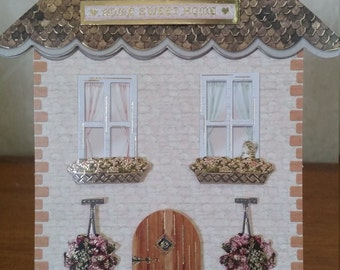 New home shaped card