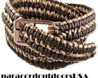 Double Cobra Braid Double  Color Belt