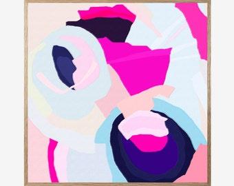 Abstract art, Abstract Print, Pink print, Digital Print, Kids room, Nursery print, Modern Art, Minimalist, Printable art, Art Work 16x16