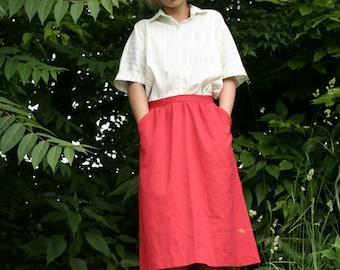 1960's red secretary skirt