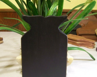 Black Whale Tail Wooden Board