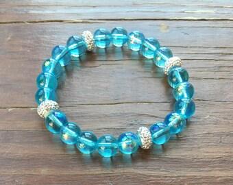Sparkly Blue Stackable Bracelet