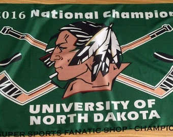 2016 University of North Dakota Fighting Sioux Championship Flag 3x5 Feet
