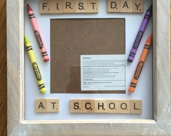 First Day At School box frame