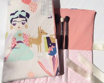 Fridita makeup brush roll