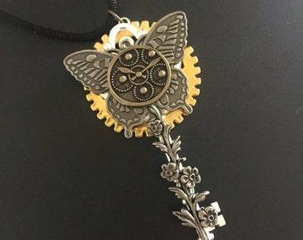Clockwork butterfly skeleton key