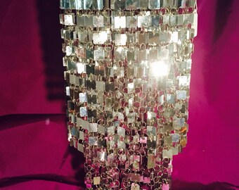 Silver chandelier lamp shade