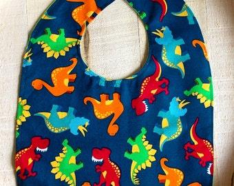 Dinosaur Print Baby Bib