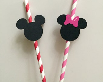 Mickey Mouse | Minnie Mouse Party Straws (12 pcs)
