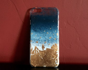 Blue Fade with Gold Lead iPhone6 Case