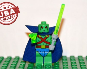 Martian Manhunter Custom minifigure (Lego Compatible) DC Comic J'onn J'onzz Justice League of America JLA Dawn of Justice Christmas Stocking