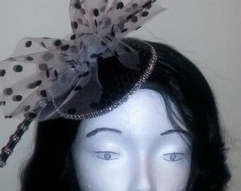 Black and White Fascinator Hat