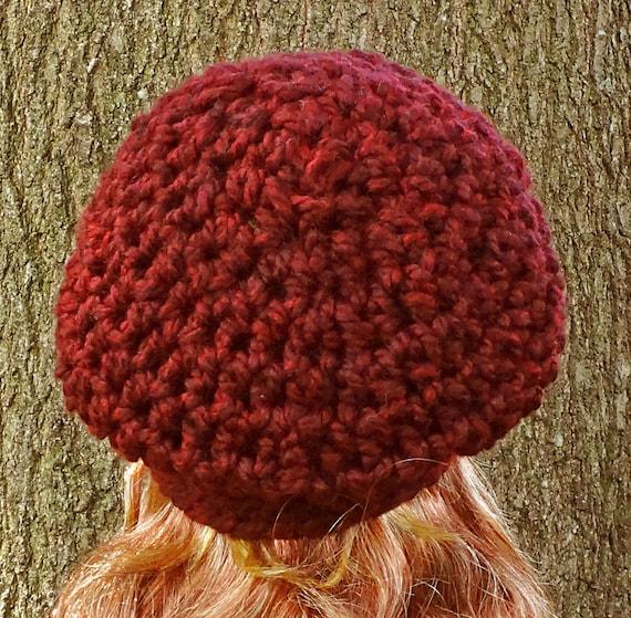 Crochet Pattern, Instant Download, Womens, Teens, Super Bulky Yarn Slouchy Ha...