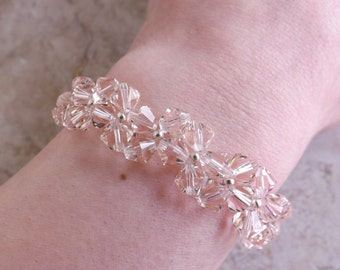 """Bracelet with Swarovski bicones """"Silk"""""""
