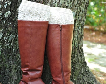 Crochet Boot Cuff,Boot Cuff,White off Boot Cuff,100% Cotton