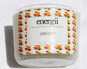 Grapefruit Soy Wax Candle