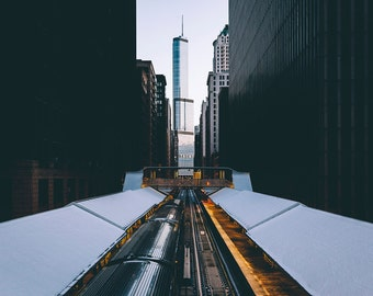 Chicago Photography Print - Chicago 'L' Tracks