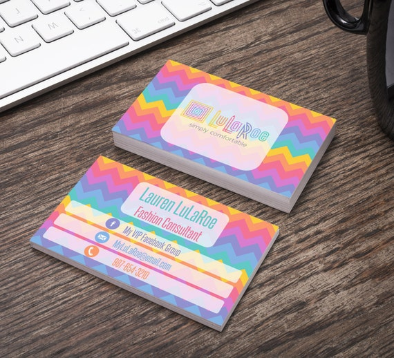 Lularoe horizontal business card home office by for Lularoe business card template