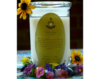 Crystal Soy Candle -Sunstone Candles Vanilla Bliss