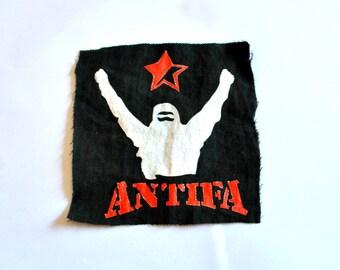 Antifa Patch, Political Patch, Logo Design, Antifascist Logo, Punk Accessories, Punk Patch, Hardcore Patch, Rocker Patch, DIY Patch,