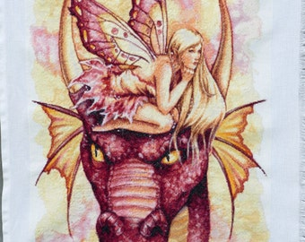 Dragon with fairy