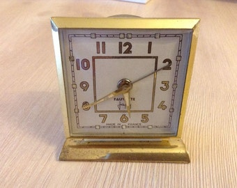 French Art Deco Clock With Alarm made by JAPY FAUVETTE