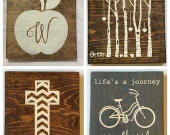 9x9 Wood Sign