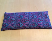 """Cold and Heat Aromatherapy Pillow in """"Pink and Turquiose Pasiley"""""""