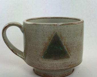 mug with turquoise triangle