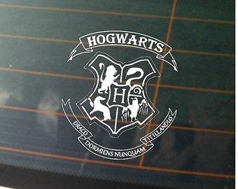 Custom Hogwarts Crest Car Decal