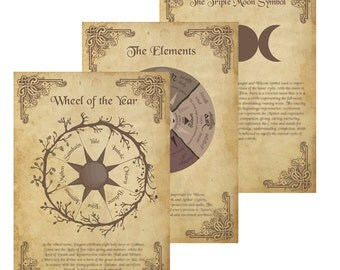 Book of Shadows Starter Pack 3 pages
