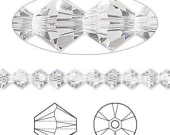 35 x 6mm Swarovski Crystals, clear