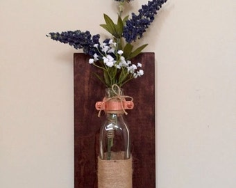 Rustic Floating Vase/ Wall Sconce
