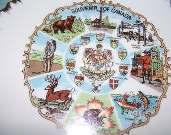 Vintage Souvenir Plate of Canada.