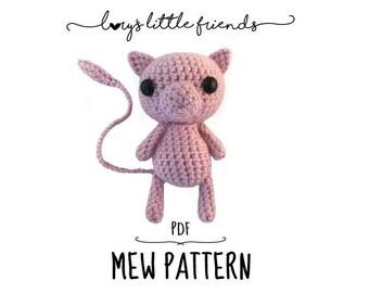 Crochet Pattern Mew Pokemon amigurumi pdf