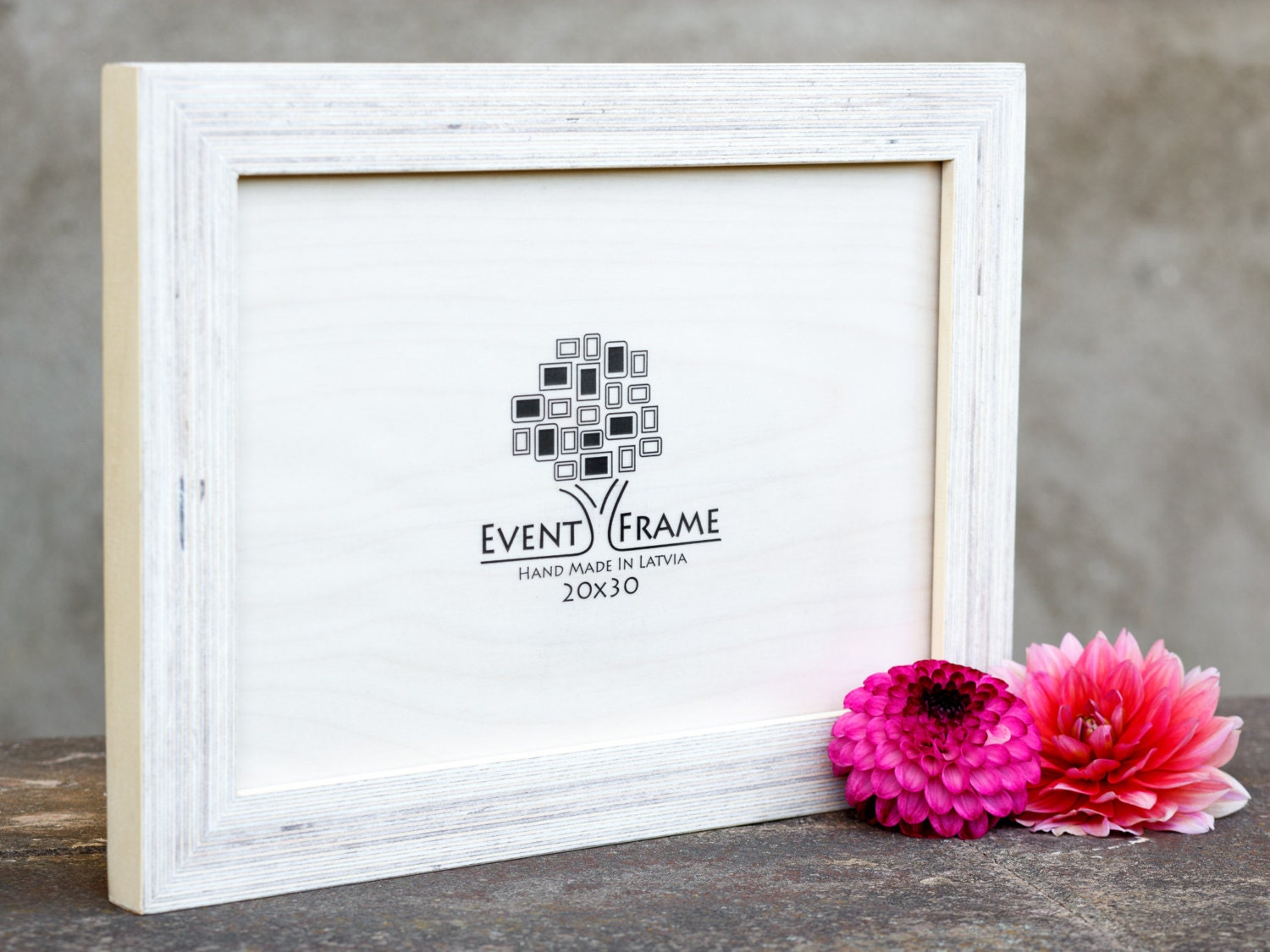 8x12 picture frame 20x30 cm unique wooden rustic design baltic birch plywood natural wood white color photo frame