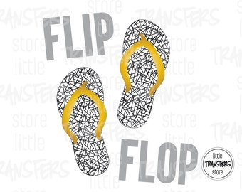 Flip Flop - Iron on Transfer - INSTANT DOWNLOAD