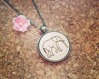 Elephant chain wood type, elephant, Africa, travel, travel, animals