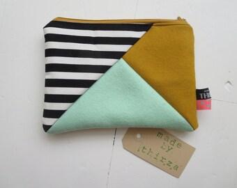 Hand made pouch of 100% wool felt
