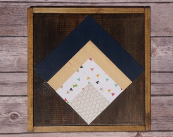 Quilt square wood sign