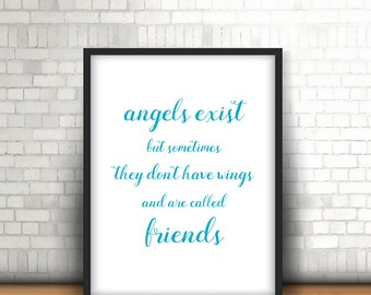 Angels are Friends Printable