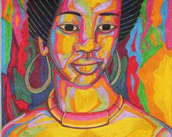 Beautiful African Woman Art