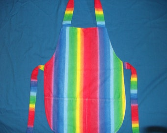 Large Child's Rainbow Apron