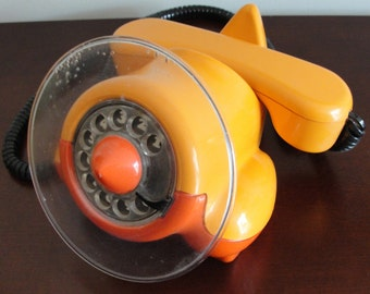 Alexander Graham Airplane Telephone - Vintage Retro Pop Phone rotary dial plane phone Northern Telecom 1970's mid century modern