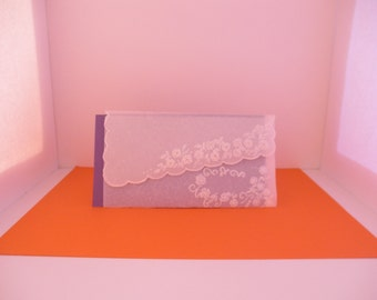 White and envelope-style greeting card