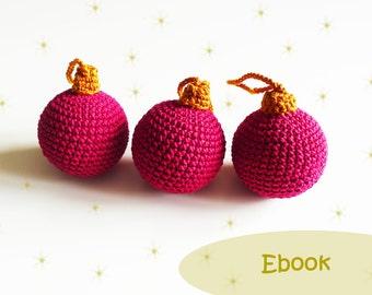 Crochet Christmas balls, Christmas crochet pattern, crochet pattern