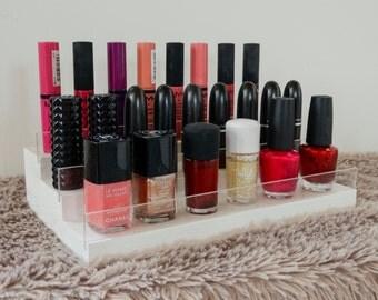 Nail Polish and Cosmetic Rack - Cosmetic Display - Nail Polish Display - Makeup Display - Makeup Organizer - Makeup Rack