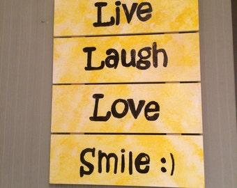 Wall Plaque Live Laugh Love Smile