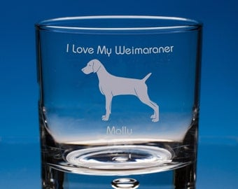 Weimaraner Whisky Glass Dog Lover Gift, Personalised Engraved Weimaraner Dog Gift, Weimaraner Whiskey Glass, Gift For Dog Lover, Dog Glass